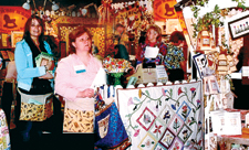 booth at the creative sewing and needlework festival