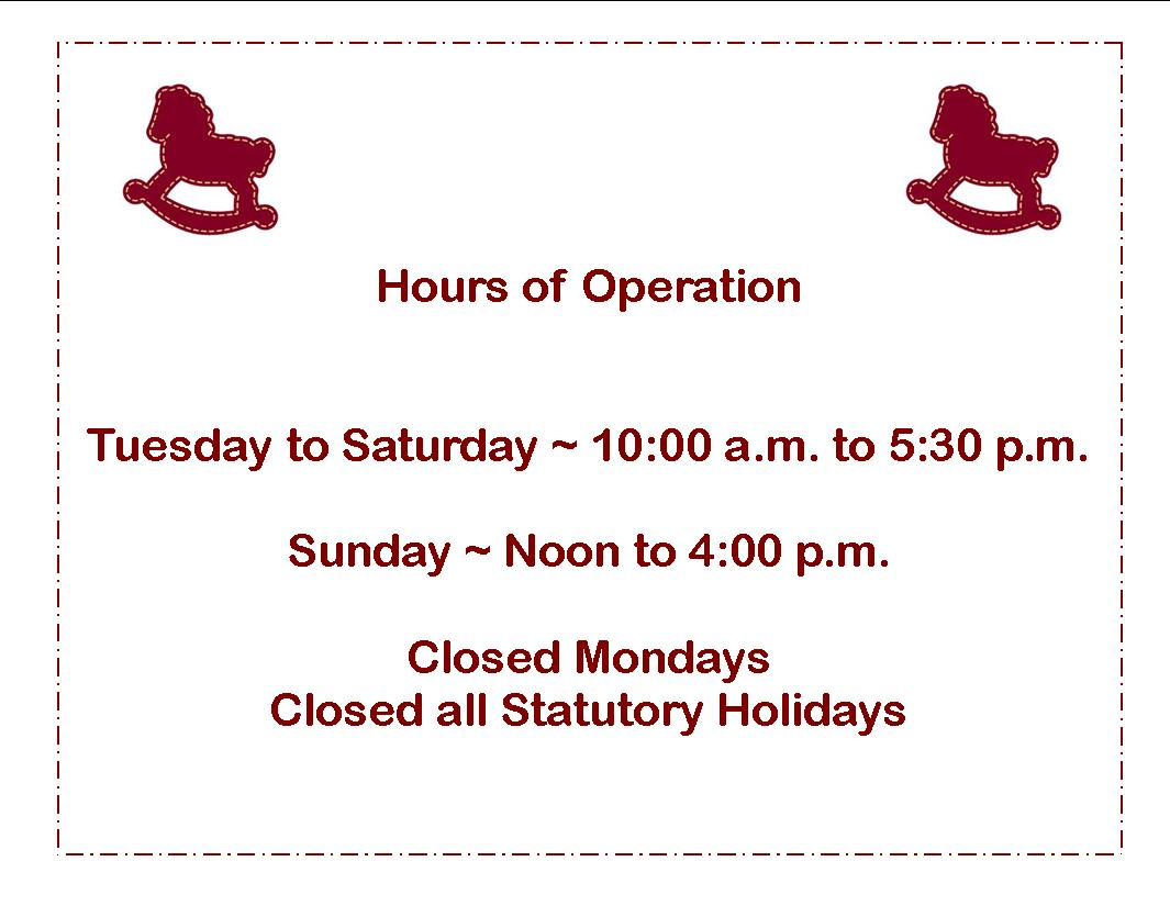 hours of operation for website